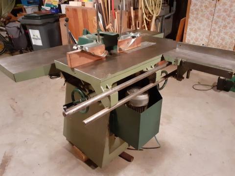 Combinée à bois 5 opérations Dugué 260 mm (chariot à tenonner)