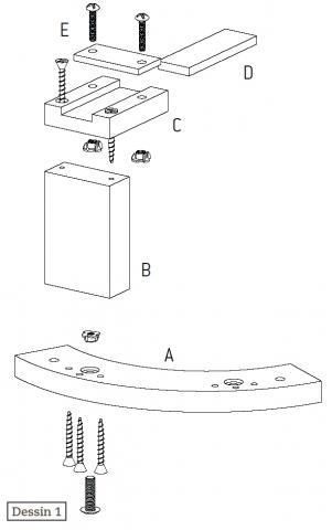 Tournage : un plateau de reprise adapté aux pièces profondes : schéma
