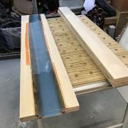 Un bureau façon « river table » pas-à-pas - Après deux délignages, pour passage en raboteuse
