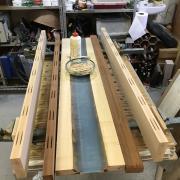 Un bureau façon « river table » pas-à-pas - Avant collage, pour dimensions finales