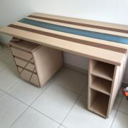 Un bureau façon « river table » pas-à-pas - Le projet est terminé !
