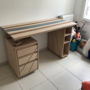 Un bureau façon « river table » pas-à-pas - L'aspect final