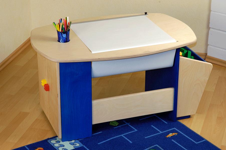 Un petit bureau pour créer et jouer bois le bouvet
